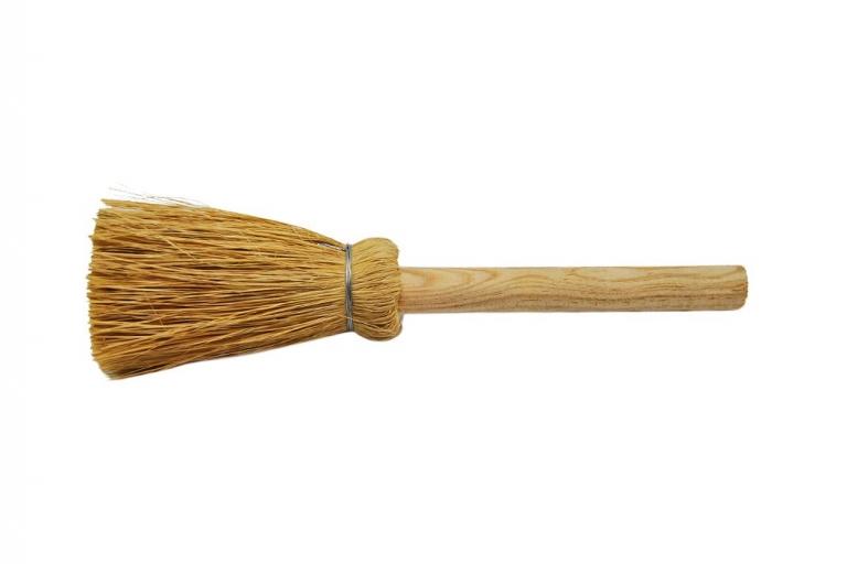 Escobilla de esparto con mango ideal para: limpieza, encolar, construcción, etc.