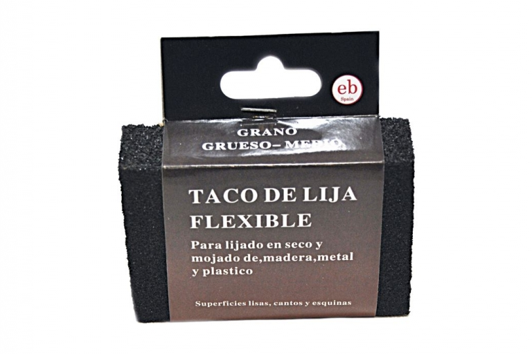 Taco de lija flexible