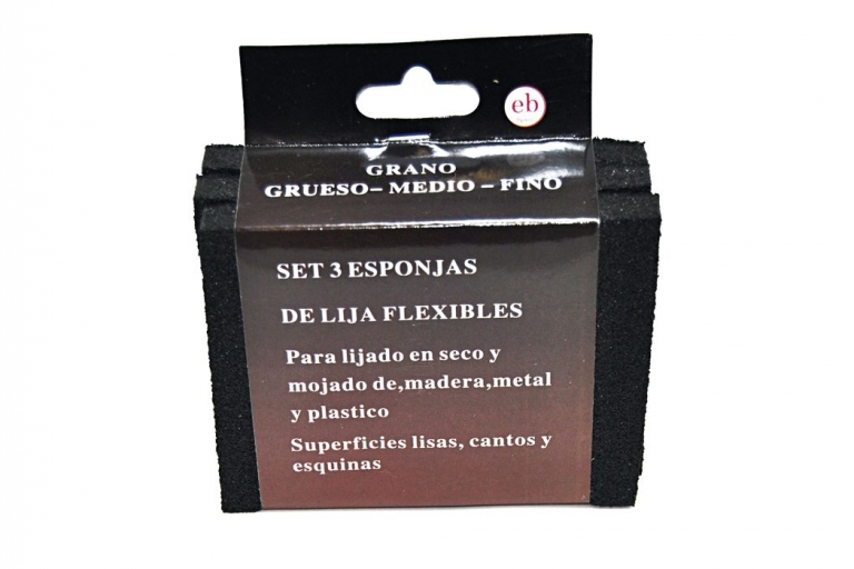Set de 3 esponjas de lija flexible