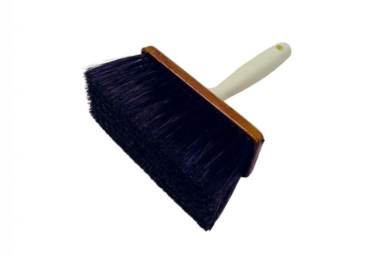 Brocha de empapelar con mango de plástico y fibra sintética