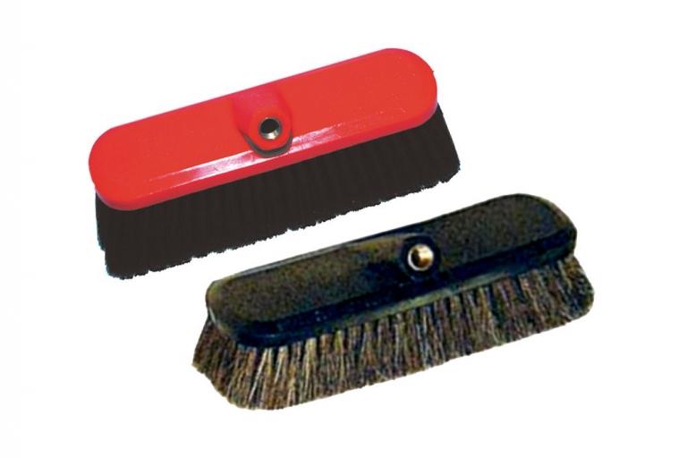 Cepillo limpiacoches de fibra sintética o pelo natural