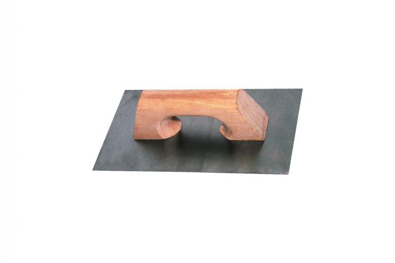Llana de acero con mago de madera