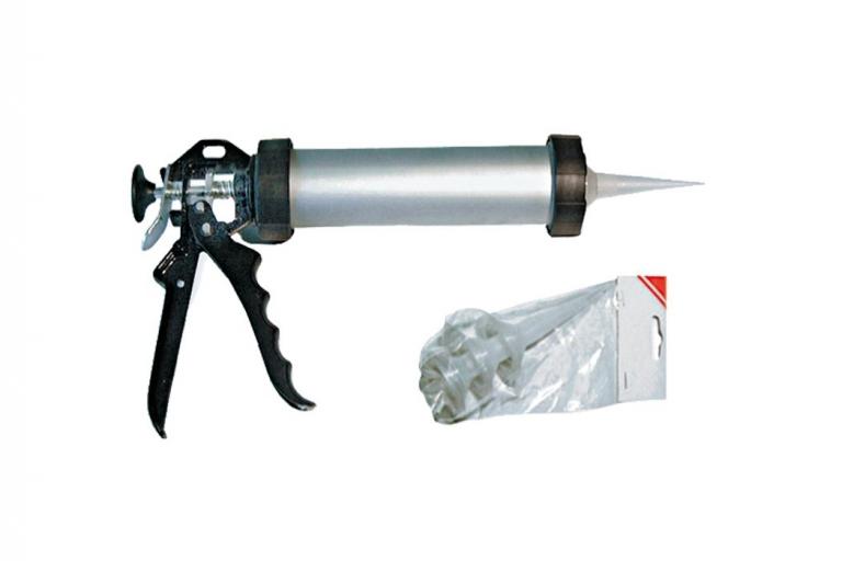 Pistola silicona tubo aluminio